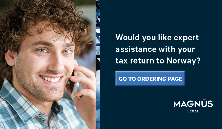 Tax return to Norway - order now